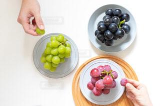 食べ物の皿を持っている人の写真・画像素材[4825400]