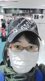 マスクをしているメガネの女性の写真・画像素材[3481267]