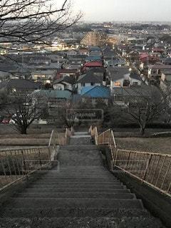 階段上からの眺望の写真・画像素材[3331858]