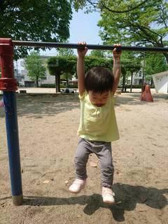 公園 鉄棒に挑戦の写真・画像素材[3333721]