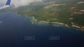 飛行機の中からグアムの写真・画像素材[3441808]
