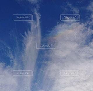 空の雲のクローズアップの写真・画像素材[3341009]