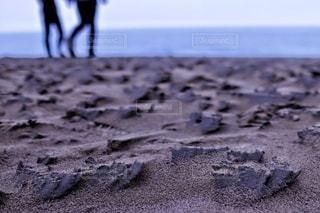雨上がりの砂丘での写真・画像素材[3390944]