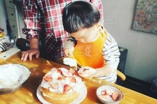 ケーキ作りの写真・画像素材[3353899]