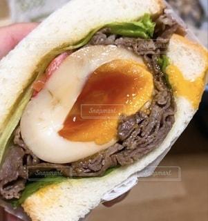 サンドイッチのクローズアップの写真・画像素材[3400376]