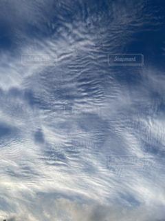 空の雲のクローズアップの写真・画像素材[3381025]