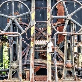 錆びた貨車の写真・画像素材[3561953]