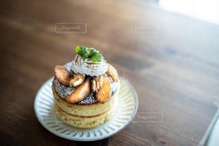手作りの梨のミニパンケーキ(ホットケーキ)の写真・画像素材[3612499]