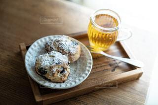 手作りお菓子のスコーンの写真・画像素材[3645572]