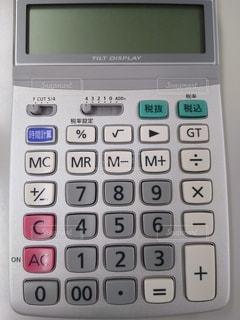 電卓のクローズアップの写真・画像素材[3368443]