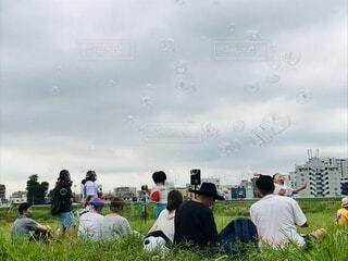 シャボン玉公園の写真・画像素材[3700861]