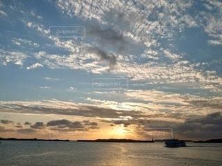 壱岐島の夕焼けの写真・画像素材[3386163]