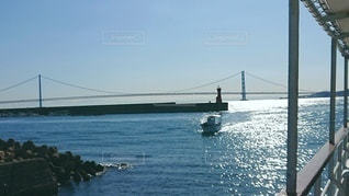 港に入る船の写真・画像素材[3433966]