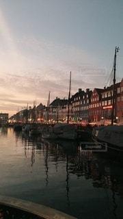 北欧の夕焼けの写真・画像素材[3378392]