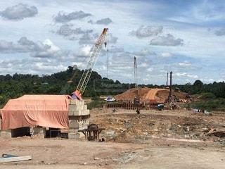 マレーシア パンボルネオ高速道路施工中🇲🇾の写真・画像素材[3388148]