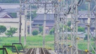 鉄橋を渡り終えたらの写真・画像素材[3403535]