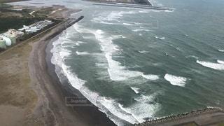 宮崎県周辺、飛行機からの海の写真・画像素材[3388931]