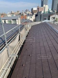 屋根の工事の写真・画像素材[3407213]