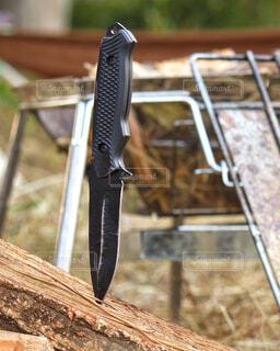 キャンプナイフの写真・画像素材[3815174]