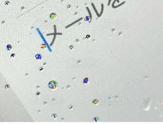 濡れた液晶画面の写真・画像素材[3399800]