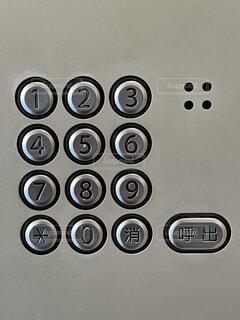 インターホンの呼びボタンの写真・画像素材[4174673]