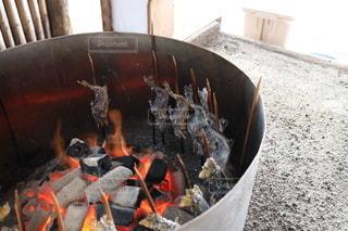 川魚の炭火焼きの写真・画像素材[3404547]