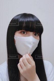 マスクをした女性の写真・画像素材[3449489]