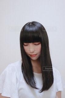 ツヤ髪の写真・画像素材[3454566]