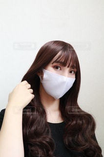 マスクをした女性の写真・画像素材[3635946]