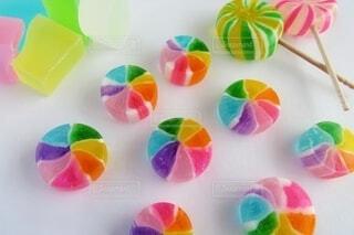 彩り綺麗な和菓子🌈の写真・画像素材[4309807]