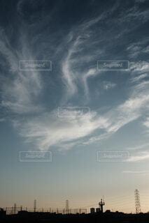 空の雲のクローズアップの写真・画像素材[3815284]