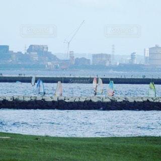 千葉市検見川浜のウインドサーフィンの写真・画像素材[3482779]