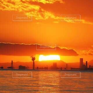 東京湾の夕焼けの写真・画像素材[4018326]