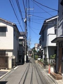 東京下町の狭い通りの写真・画像素材[3411753]