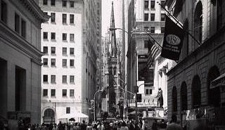 ウォールストリート ニューヨーク マンハッタンの写真・画像素材[3460293]