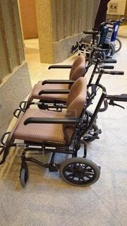 使用者を待つ車椅子の写真・画像素材[3650779]