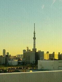 首都高から見えたスカイツリーの写真・画像素材[4165477]
