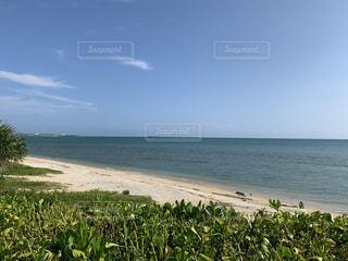 水の体の近くのビーチで人々のグループの写真・画像素材[3513493]