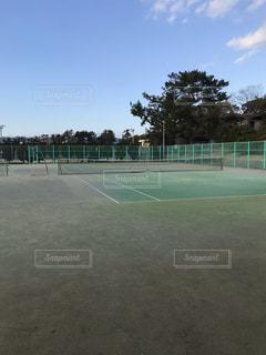 テニスコートの写真・画像素材[3420202]