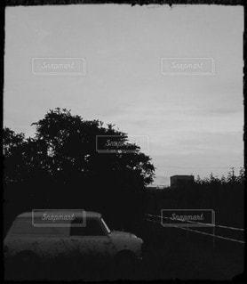 白黒minivanの写真・画像素材[3435616]