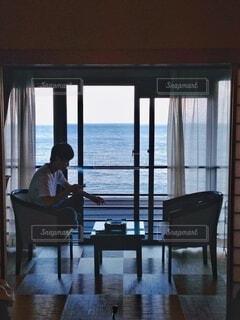 海沿いの温泉旅館の写真・画像素材[3806898]