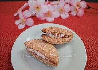 桜のブッセの写真・画像素材[4180994]