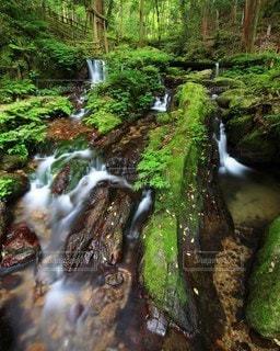 瓜割の滝の写真・画像素材[3439544]