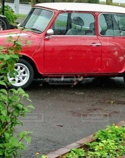 駐車場に駐車しているミニの写真・画像素材[3492058]