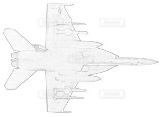 アメリカ海軍 F-18E スーパーホーネット 第115戦闘飛行隊の写真・画像素材[3731418]