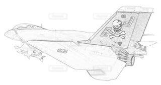 アメリカ海軍 F-14A トムキャット 第84戦闘飛行隊 可変後退翼の写真・画像素材[3736854]