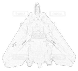 アメリカ海軍 F-14A トムキャット 第84戦闘飛行隊 可変後退翼の写真・画像素材[3736862]