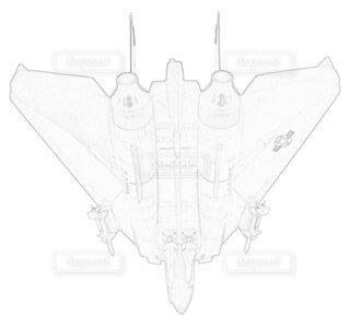 アメリカ海軍 F-14A トムキャット 第84戦闘飛行隊 可変後退翼の写真・画像素材[3736872]