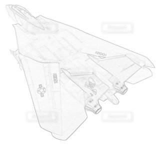 アメリカ海軍 F-14A トムキャット 第84戦闘飛行隊 可変後退翼の写真・画像素材[3736873]