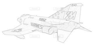 アメリカ海兵隊 F-4J ファントムⅡ 第451戦闘攻撃飛行隊の写真・画像素材[3740773]